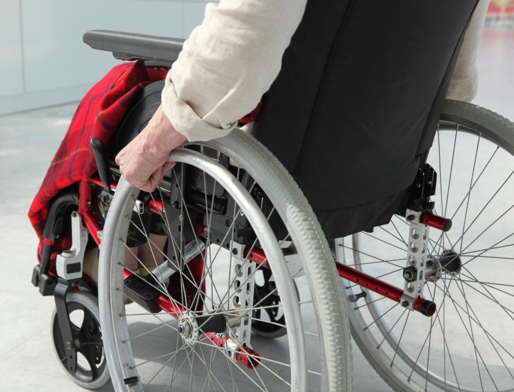 Bedsores sometimes form because of someone sitting in a wheelchair for long periods of time.