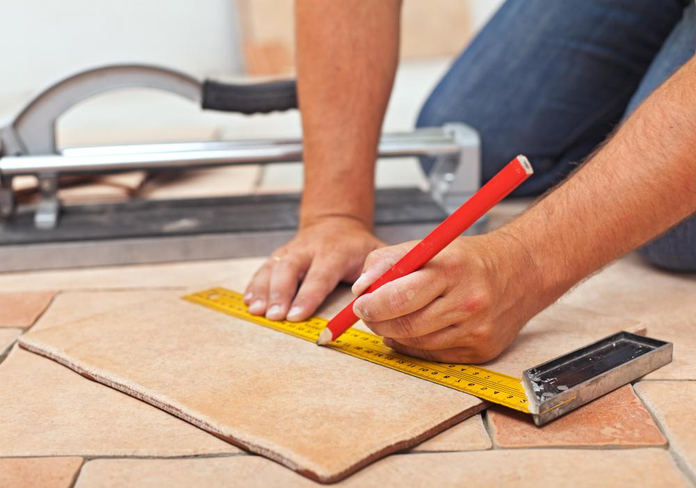 Tile floors are easy to install.