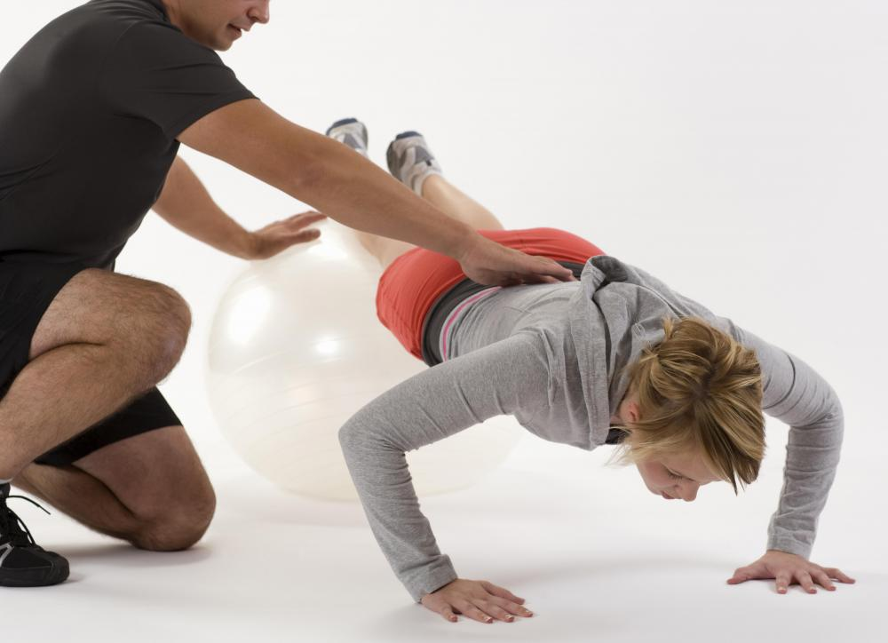 Push-ups may be part of a circuit training system.