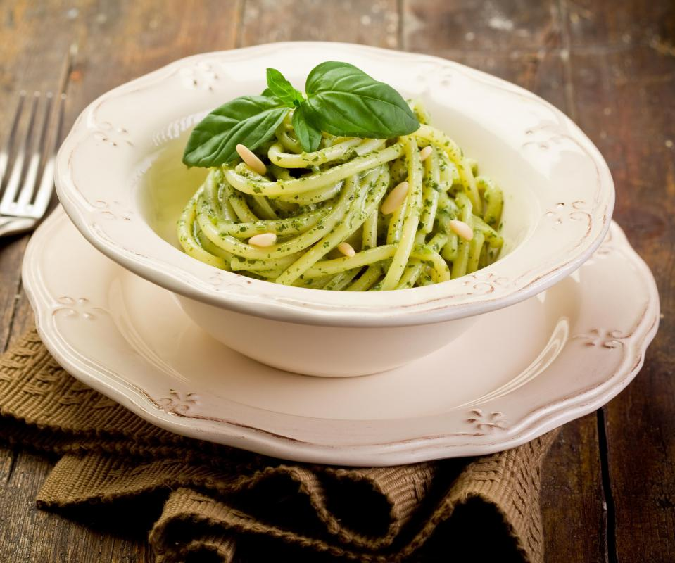 Pasta is typically high in complex carbohydrates.