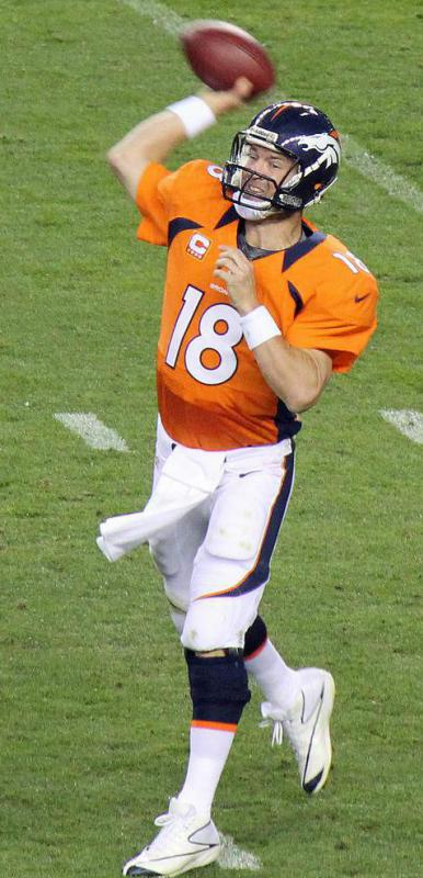 A celebrity with the name Peyton is Peyton Manning, who has played for the Denver Broncos and the Indianapolis Colts.