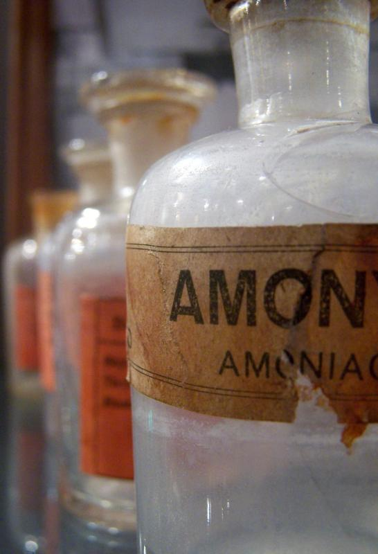 Smelling salts should be kept tightly bottled when not in use due to the noxious odor.