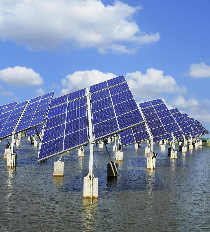 A sustainable city might make use of solar panels.