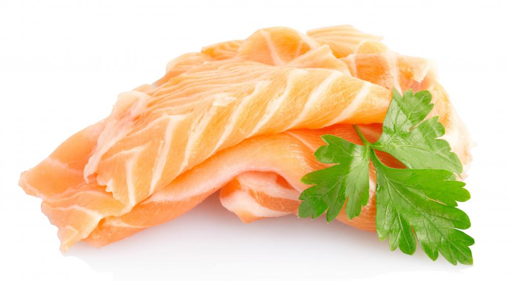 Salmon naturally contains methionine.
