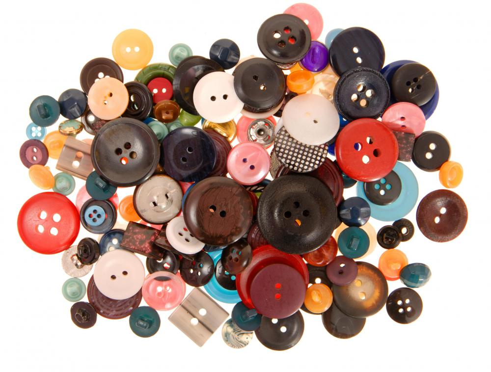 Buttons come in a variety of shapes and sizes.
