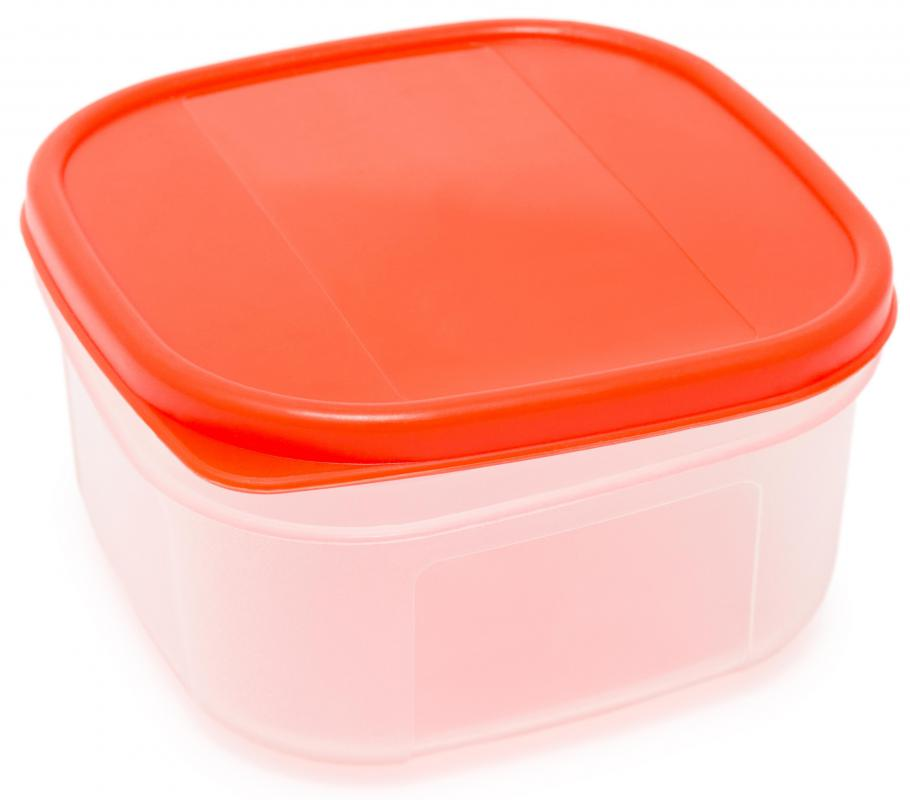 A resealable food container made of chemical resin.