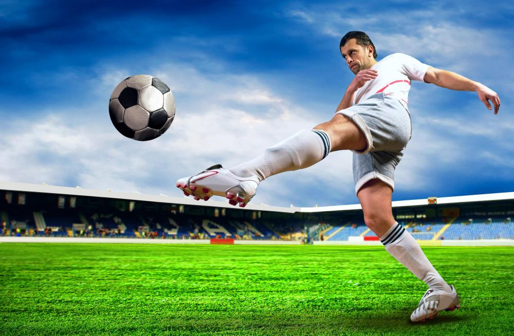 A soccer ball being kicked provides an example of projectile motion.