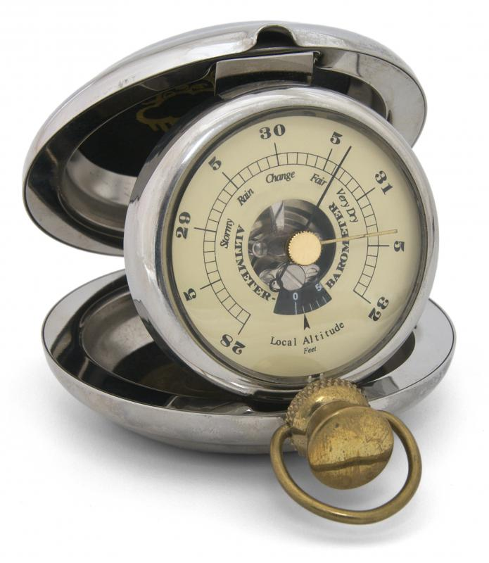 A pocket barometer.