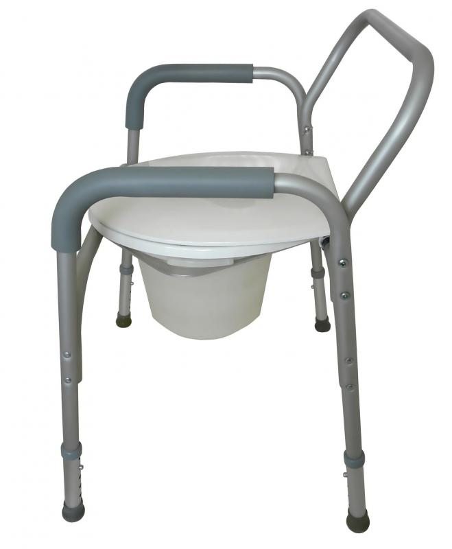 A portable seat like this one is a good example of a commode.