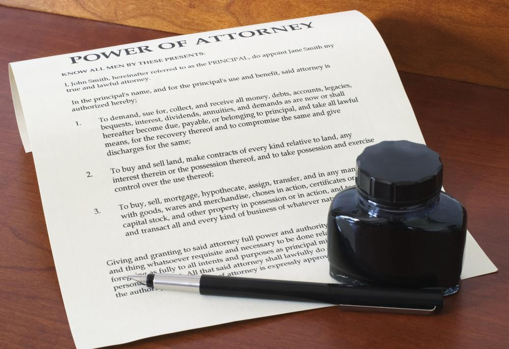 With a dual power of attorney, rights and powers are conveyed to two named individuals.