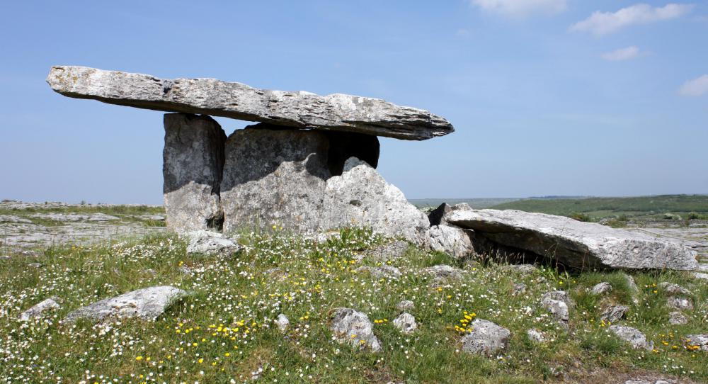 The many prehistoric sites that cover the Irish countryside are popular with Irish-American tourists.