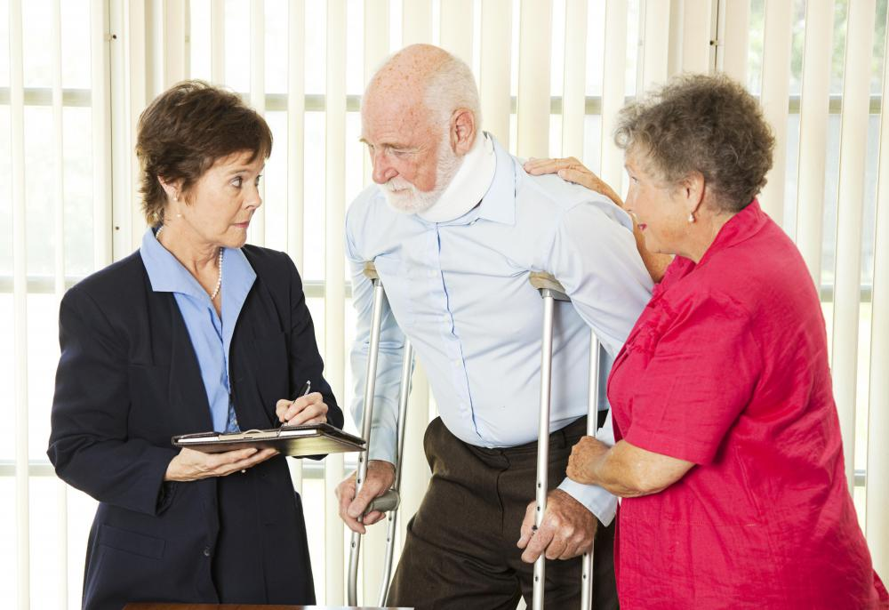 Patients may need to use crutches after bunion surgery.