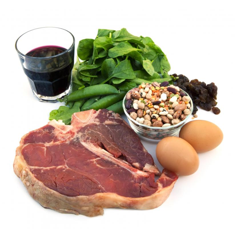 Peptidase is an enzyme that helps break down the protein found in foods such as steak, beans, and eggs.