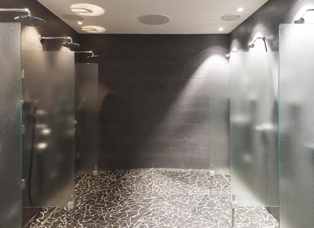 A private gym may offer multiple shower stalls for its members.