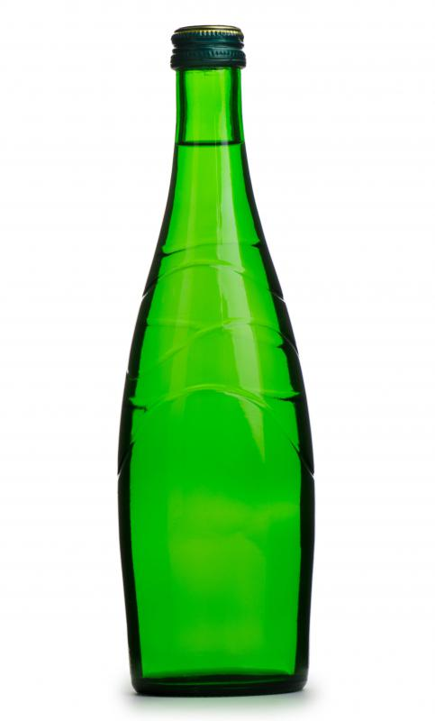Glass bottles can be recycled.