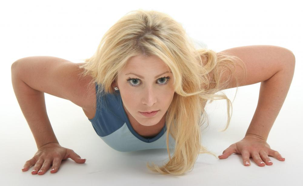 Push-ups are a calisthenic exercise, requiring no equipment.