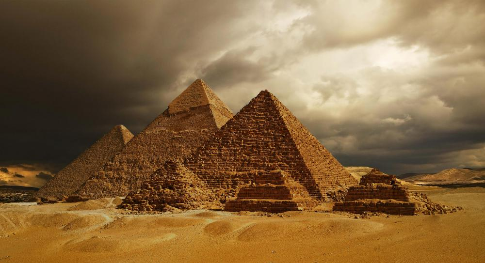 The creation of imposing structures was a major focus of Egyptian architecture.