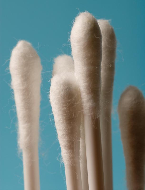 A cotton swab may be used to pack a wound.