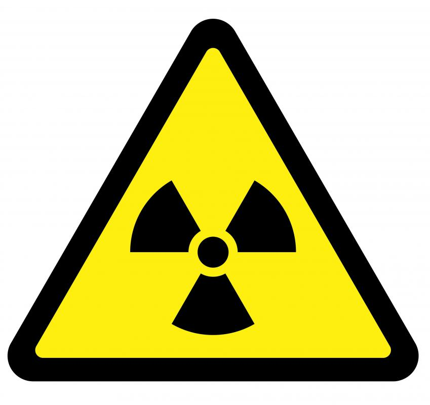 A sign indicating radioactivity.