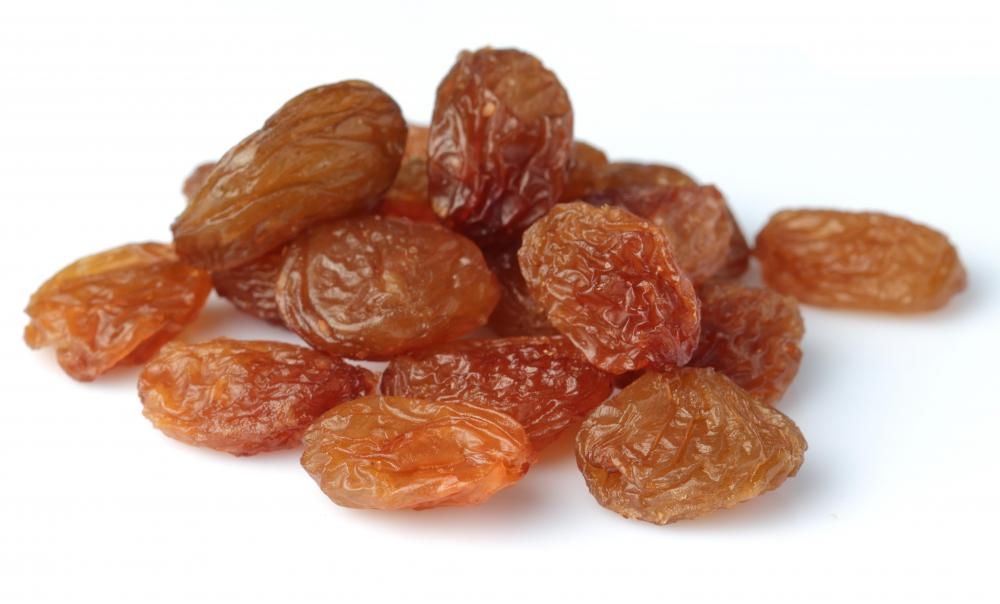 Raisins contain arginine, a non-essential amino acid.