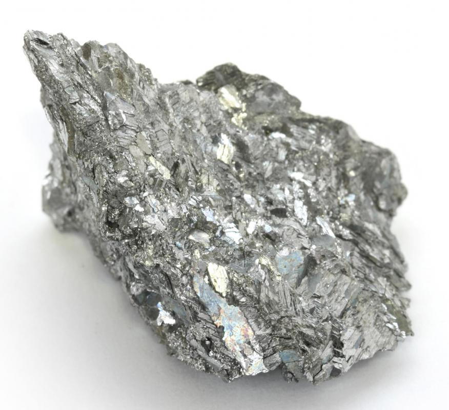 Palladium is a silvery white metal.
