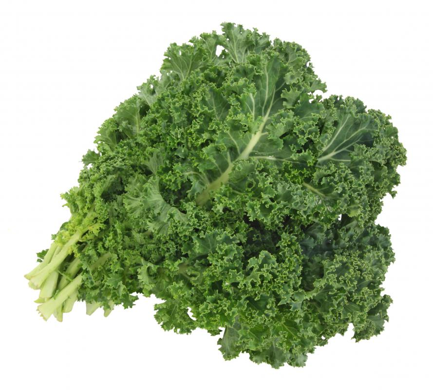 Leafy greens, such as kale, can be a good source of vitamin U when eaten raw.