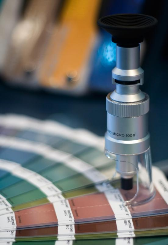 Spectrophotometers are used to set colors for printing and fabrics.