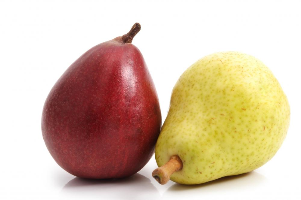 Pears are a good source of fiber.