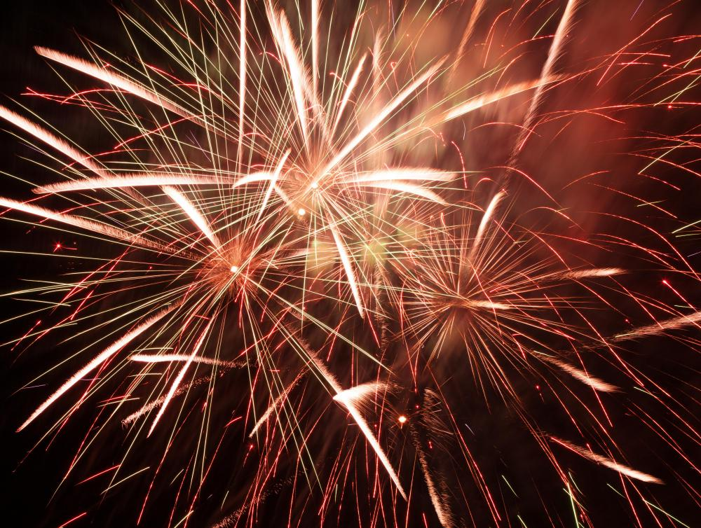 Gunpowder was used by the ancient Chinese in fireworks.