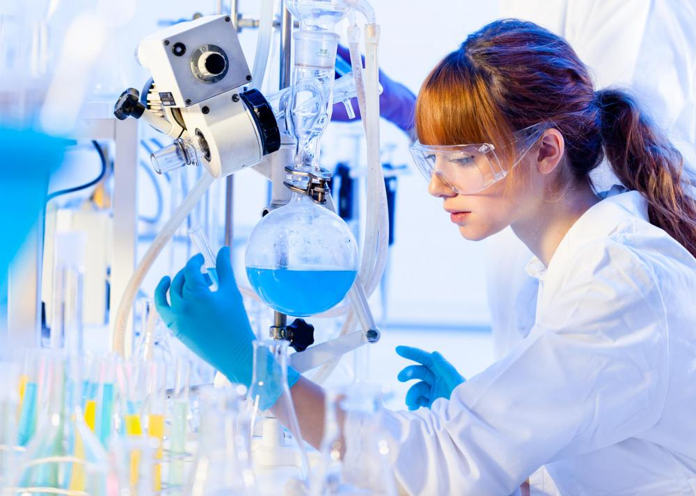 In bench chemistry, the chemist mixes and handles chemicals directly rather than using high-tech devices.
