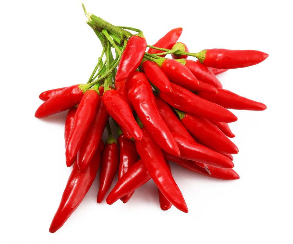 Spicy chili peppers cause endorphins to be released.