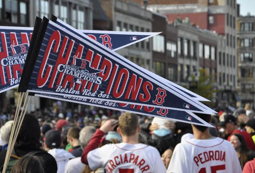 On Patriots Day, it's common for fans to attend the Boston Red Sox day game and then go to Kenmore Square to cheer on runners in the Boston marathon.