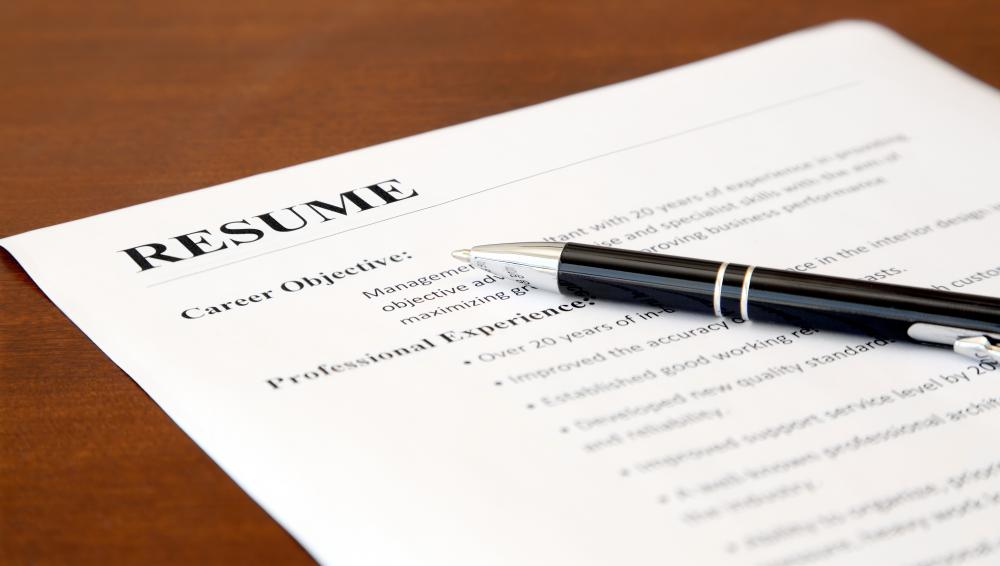 Most job applicants will need to submit a resume to be considered for a job opening.
