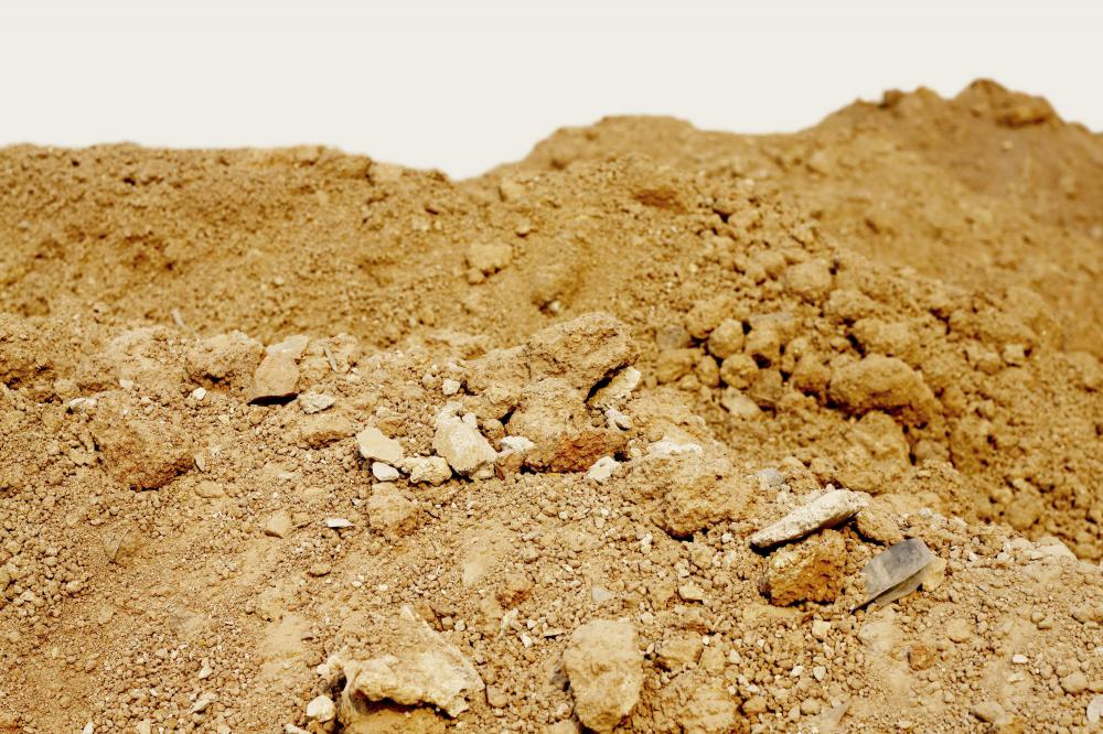 Chalky soil usually has rocks of various sizes mixed in.