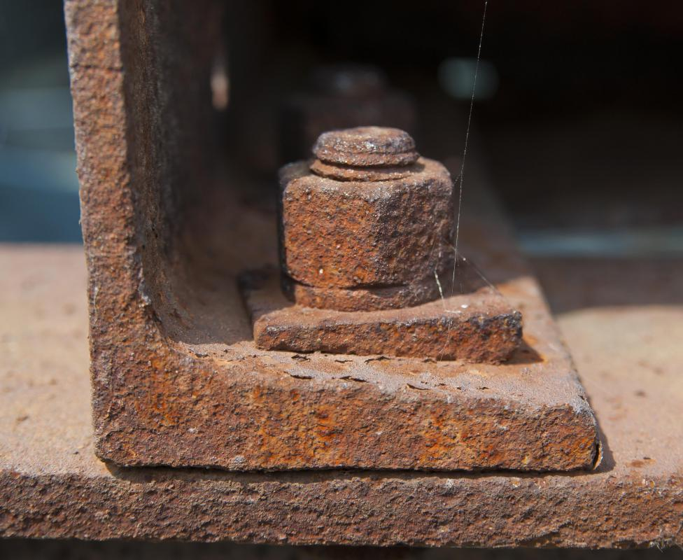 A rusted bolt.