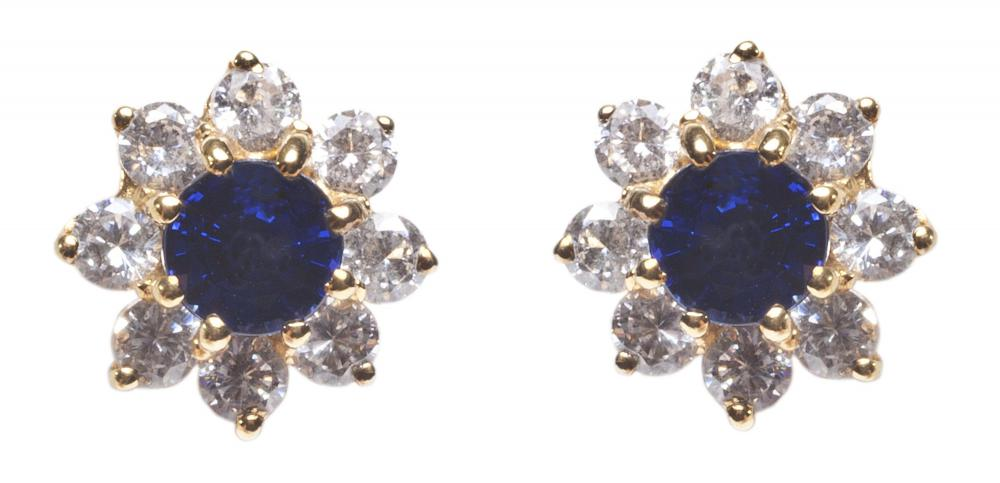 Sapphires, which may be a deep blue, are an excellent gem choice for earrings.