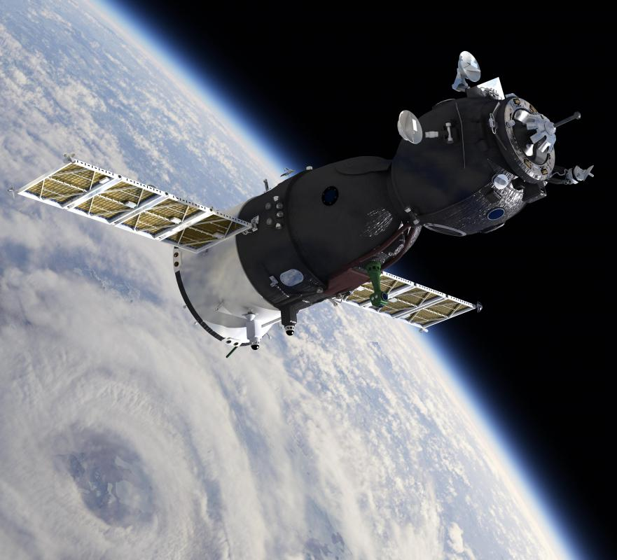 The Russian Soyuz capsule operates in low Earth orbit.