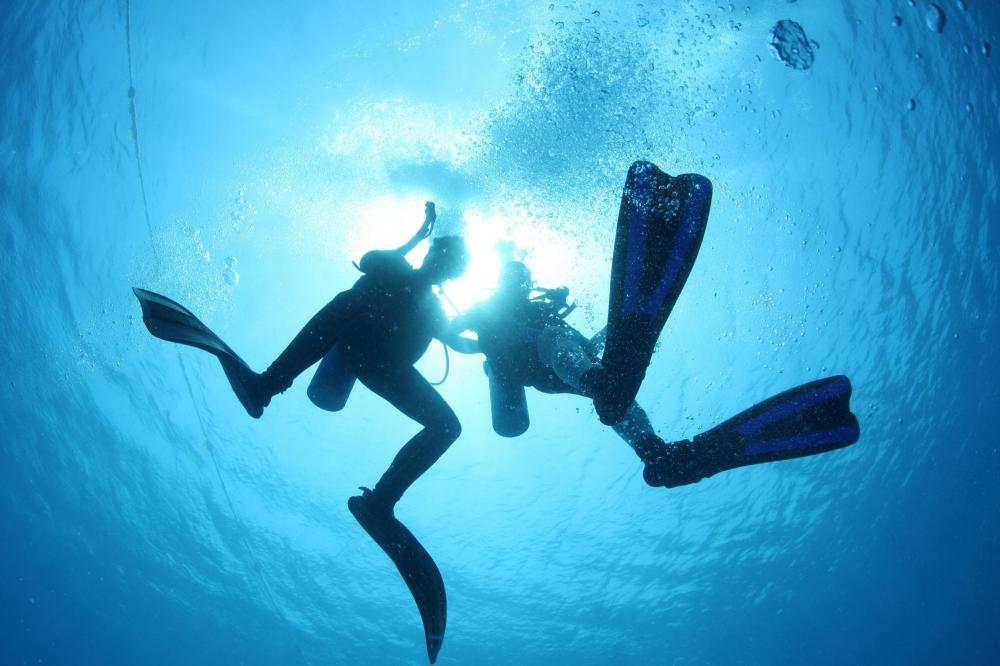 Scuba diving is incorporated into many eco adventures.