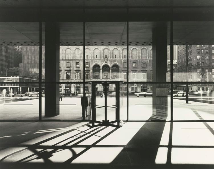 The interior of Mies van der Rohe's Seagram Building in New York.