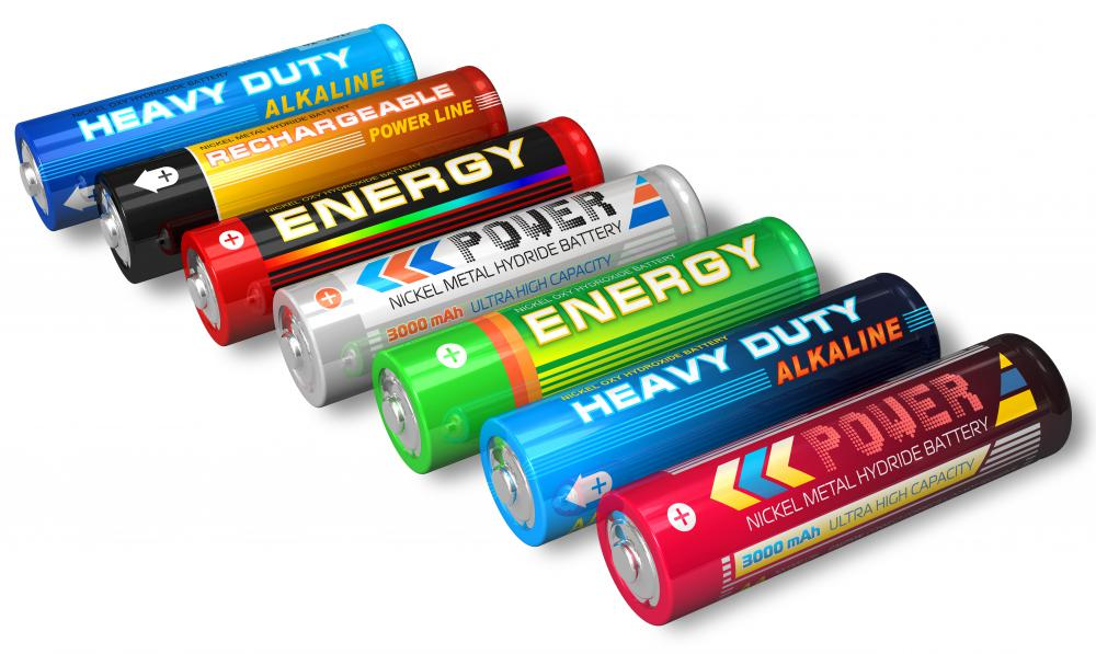Dry cell batteries.