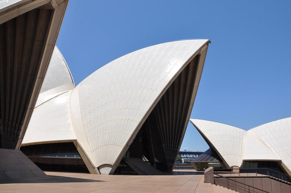 The Sydney Opera House is known for iconic architecture that incorporates concrete shells.