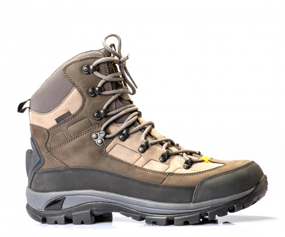 Mountain climbing gear must include a good pair of boots.