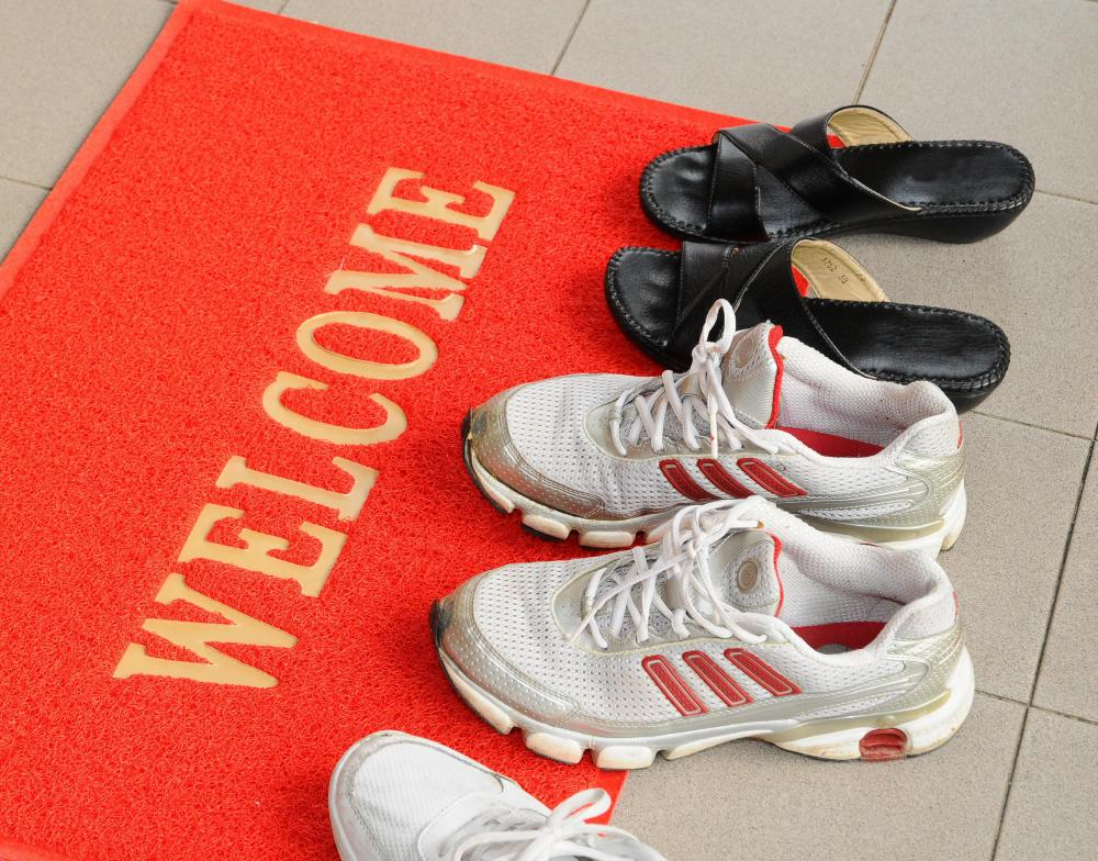 Keeping shoes at the door is one of the best ways to keep a carpet clean.