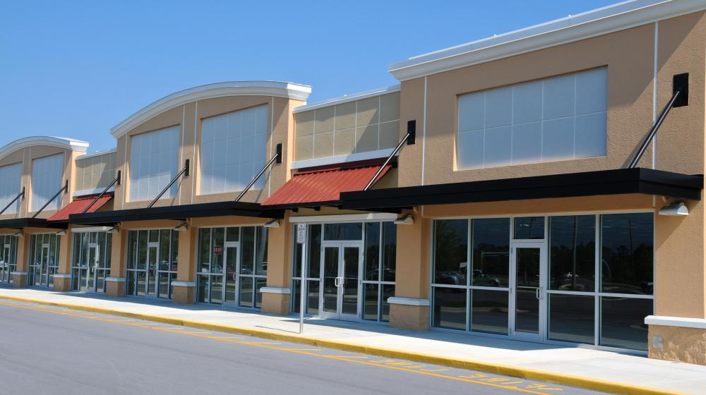 Strip malls are designed to minimized the lollygagging activities that occur at regular malls.