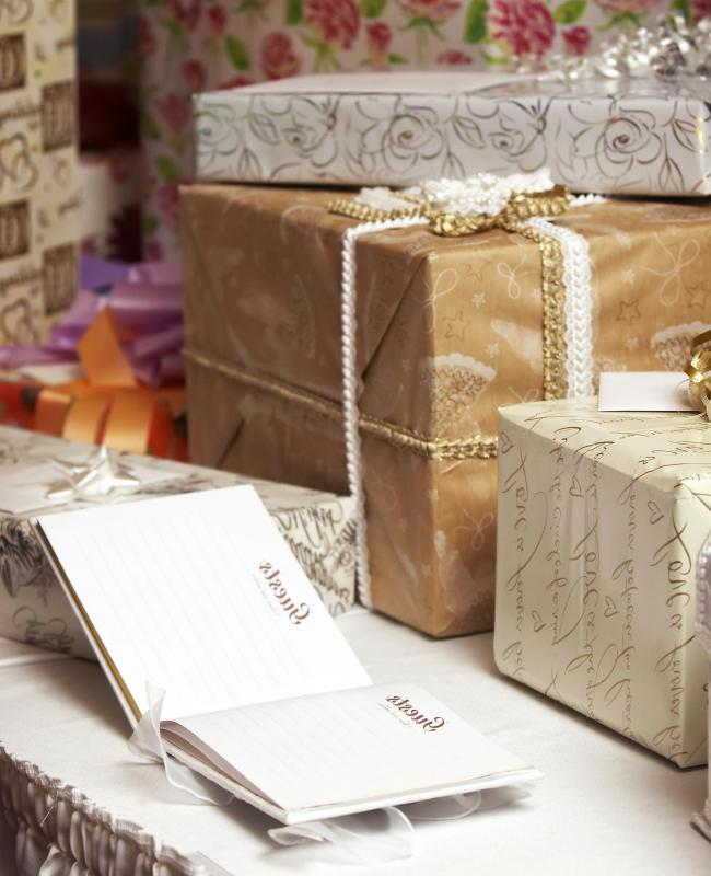 Bridal shower gifts may be purchased through an online gift registry.