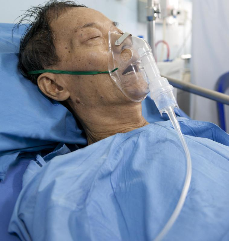 Some with pneumonia require supplemental oxygen treatment.
