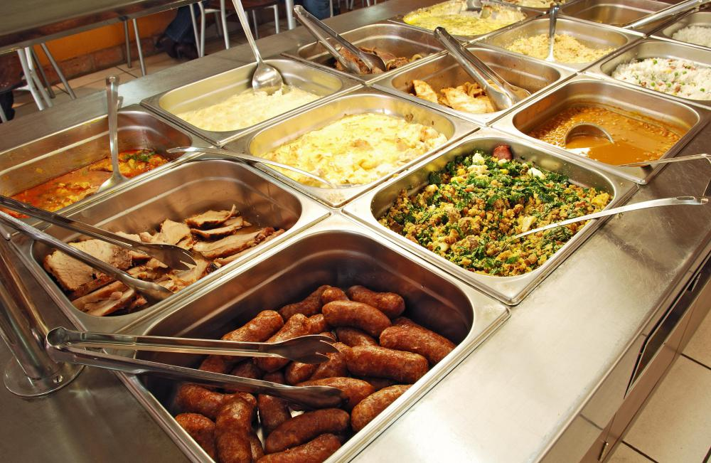 Buffet meals may contain many foods that are high in cholesterol.