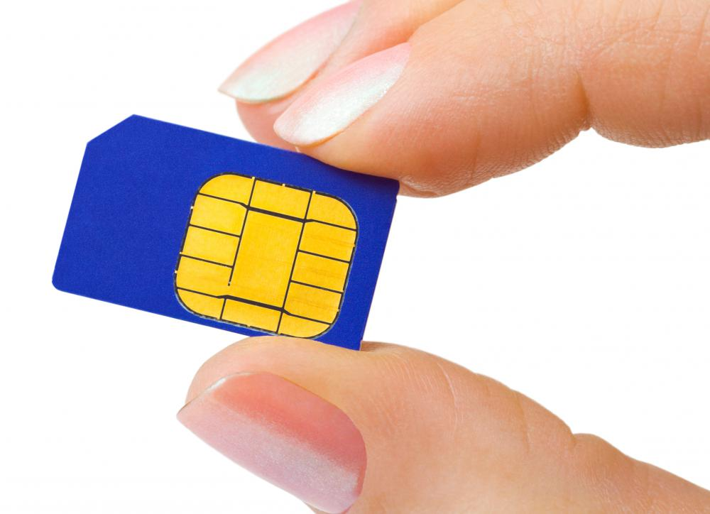 A prepaid Subscriber Identity Module or SIM card stores connection information, and allows cell phones to connect to a wireless mobile network.