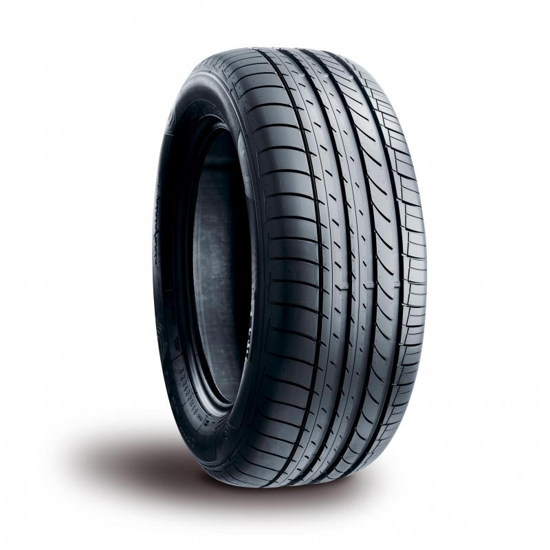 A tire with specific treads.