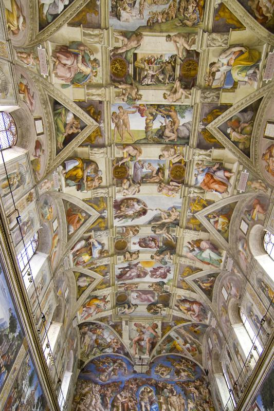 One philosophy of art holds that the Sistine Chapel ceiling is no more beautiful than anything else.